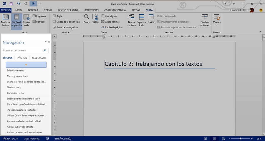 Curso gratis de gu a office 2013 aulaclic 4 for En word cual es el interlineado
