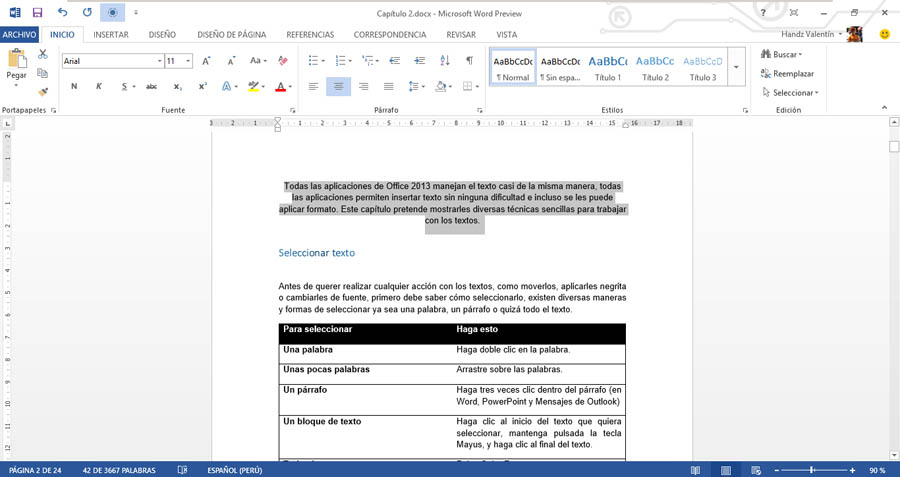 formato de caratulas en word