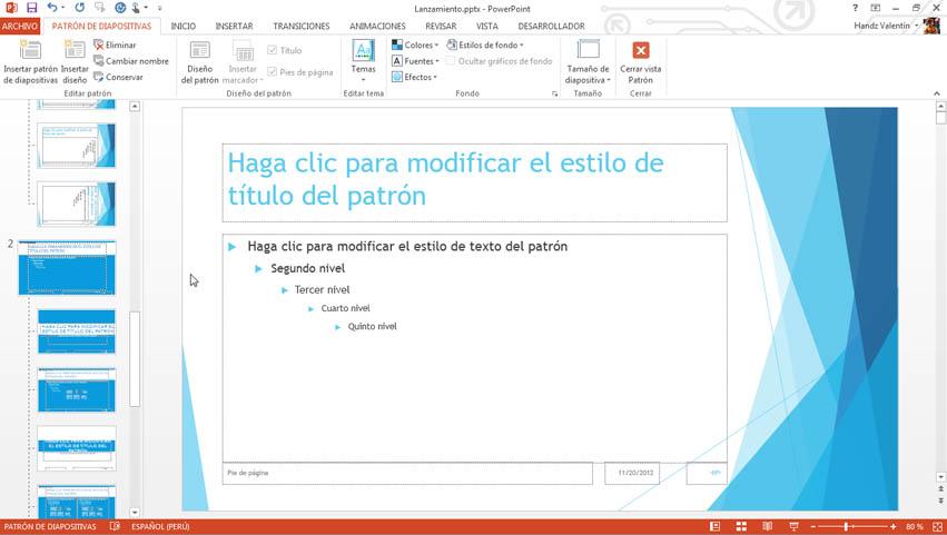 Curso gratis de gu a office 2013 aulaclic 12 manejando for Diseno de diapositivas