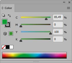 Panel color CMYK