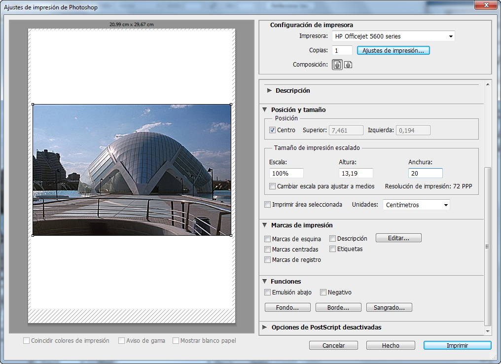 Curso gratis de Photoshop CS6. aulaClic. 11 - Impresión de imágenes