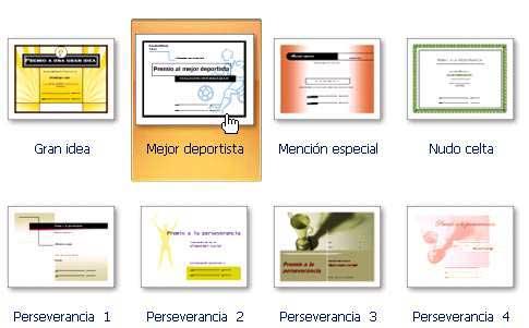 aulaClic. Curso gratis de Microsoft Publisher 2007. 4 - Diseños de ...