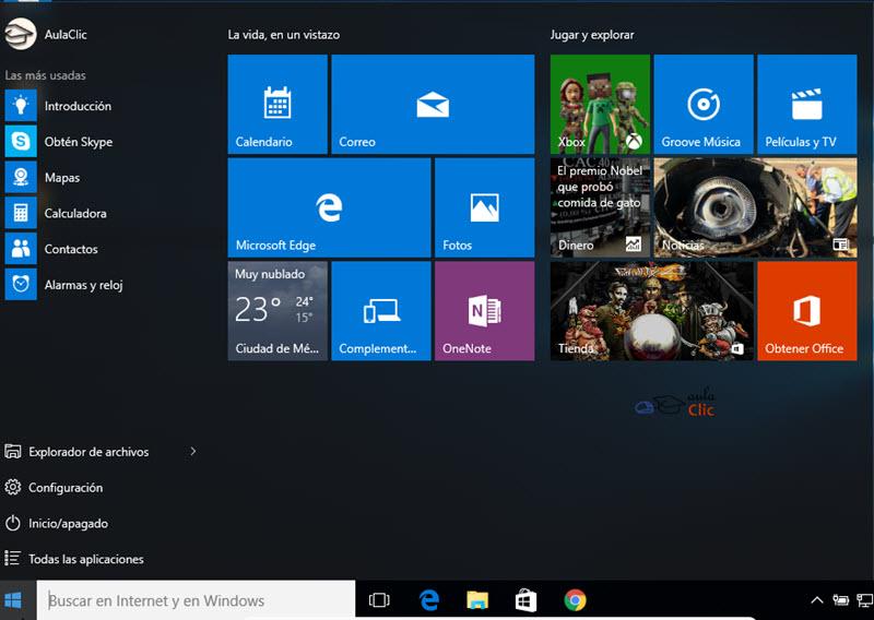 Curso Gratis De Windows 10 Aulaclic 3 La Interfaz De Windows 10