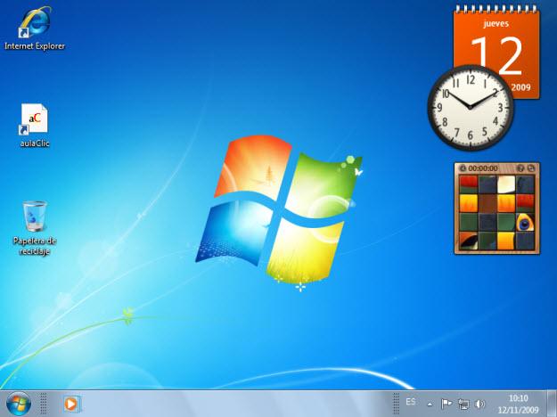 Curso gratis de windows 7 aulaclic 3 el escritorio y - Iconos para escritorio windows ...